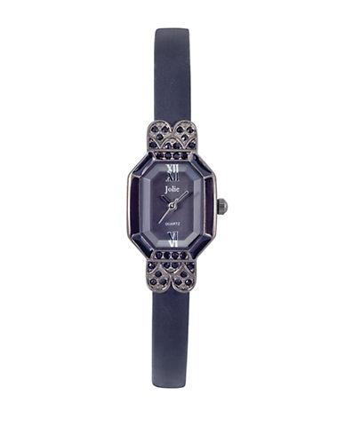 JOLIELadies Octagonal Crystal-Accented Watch