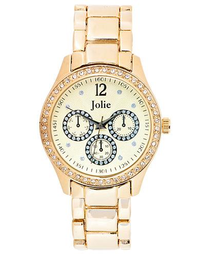 JOLIELadies Gold-Tone Chronograph Glitz Watch