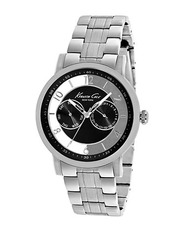 KENNETH COLEMens Stainless Steel Watch with Transparent Dial
