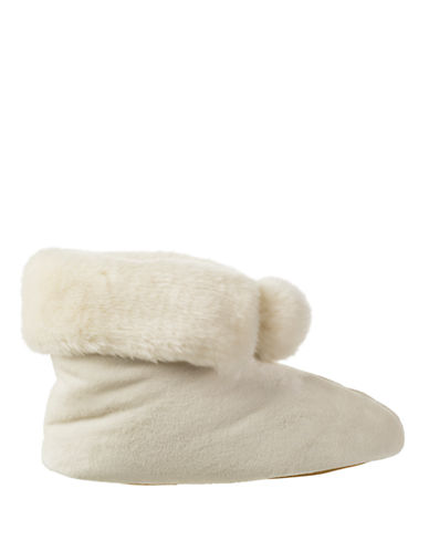 ISOTONERSignature Holiday Faux Fur Memory Foam Bootie Slippers