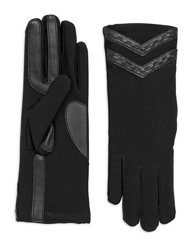 ISOTONERStretch Gloves with Leather Trim