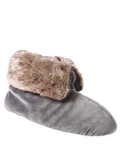 ISOTONERSignature Holiday Soft Plush Velour Bootie Slippers