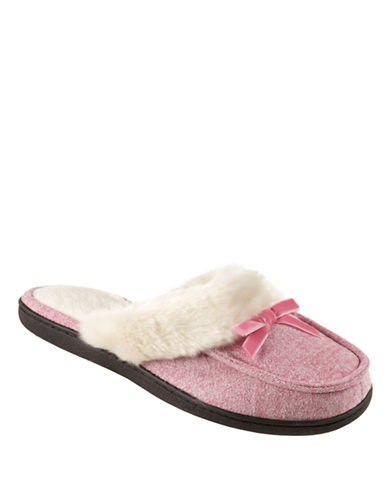 ISOTONERSignature Holiday Heathered Microsuede Clog Slippers