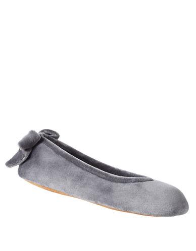 ISOTONERSignature Holiday Plush Velour Ballerina Slippers