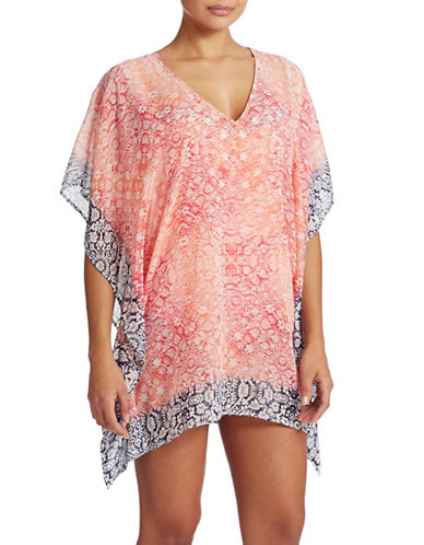 74cfc66723 ... (Coral UPC 023798134894 product image for Tommy Bahama Printed Tunic  Swim Cover Up