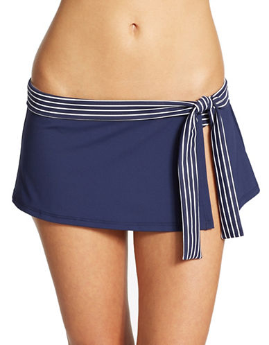 Shop Tommy Bahama online and buy Tommy Bahama Stripe Detail Skirted Swim Bottom swimwear online