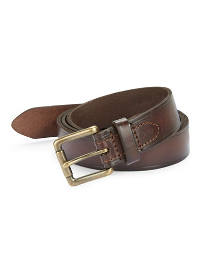 NAUTICA Leather Square Buckle Belt