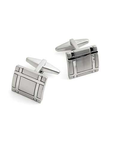 KENNETH COLE NEW YORKSquare Crosshatched Cufflinks