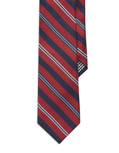 BEN SHERMAN Diagonal Striped Silk Tie