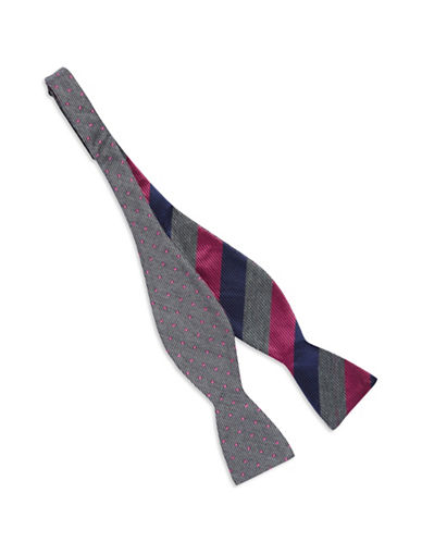 BEN SHERMAN Silk Reversible Bow Tie