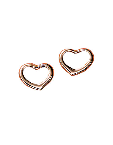 LORD & TAYLOR14 Kt Rose Gold Heart Earrings