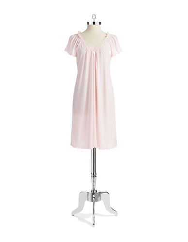 MISS ELAINE Short Sleeved Nightgown
