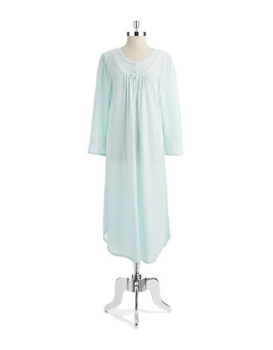 MISS ELAINELace And Ribbon Nightgown