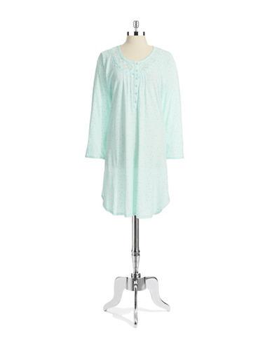 MISS ELAINEDotted Sleep Shirt