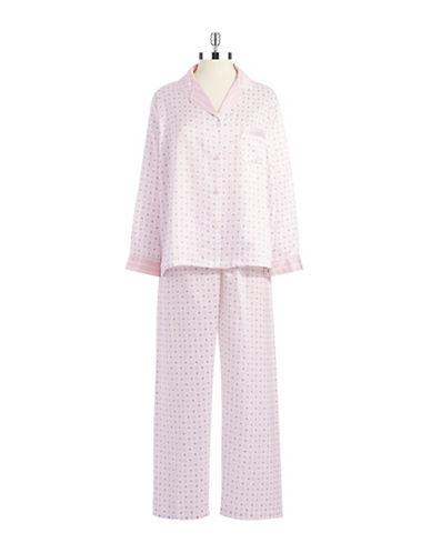 MISS ELAINETwo Piece Patterned Pajama Set