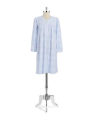 MISS ELAINEFleece Paisley Nightgown