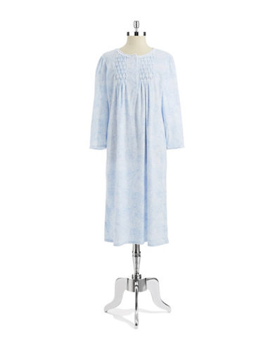 MISS ELAINE Fleece Floral Nightgown