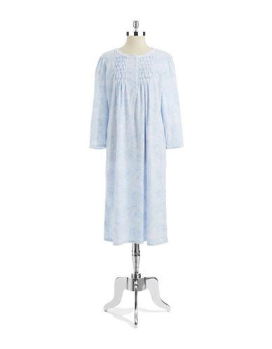 MISS ELAINEFleece Floral Nightgown