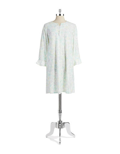 Miss Elaine Watercolor Floral Zip Nightgown