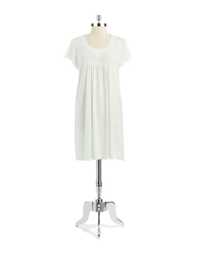 MISS ELAINE Short Sleeved Softknit Nightgown