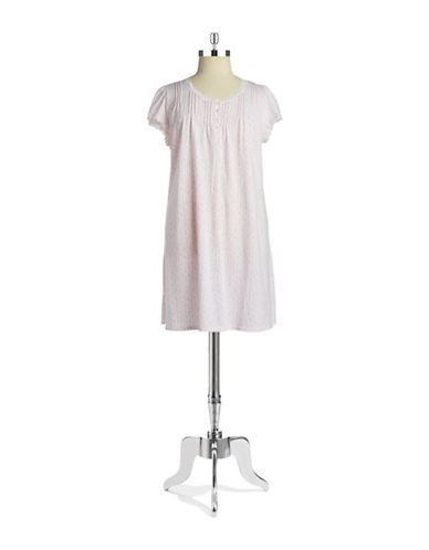 MISS ELAINE Floral Short-Sleeved Nightgown