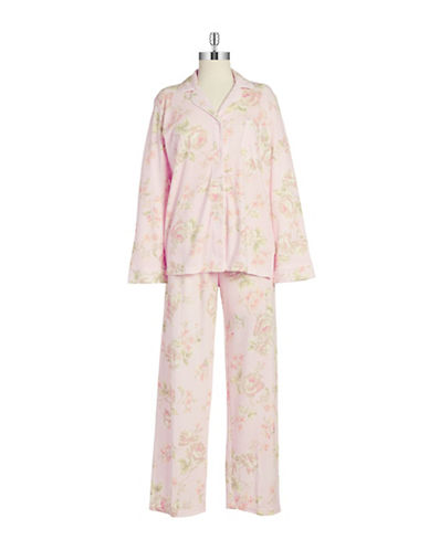 MISS ELAINE Two-Piece Floral Sleep Set