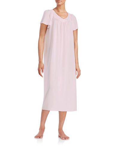 MISS ELAINEEmbroidered Floral Nightgown