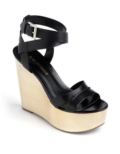 ENZO ANGIOLINIZamaz Leather Platform Wedge Sandals