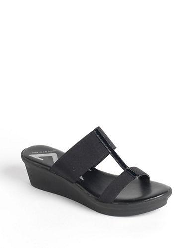 "AK Anne Klein ""Ervant"" Wedge Sandal - Black"