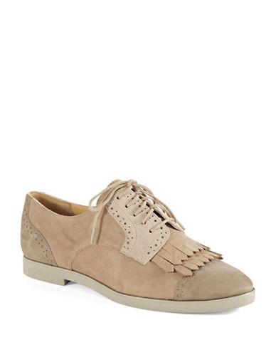 ENZO ANGIOLINIFireballe Suede Saddle Fringe Shoes