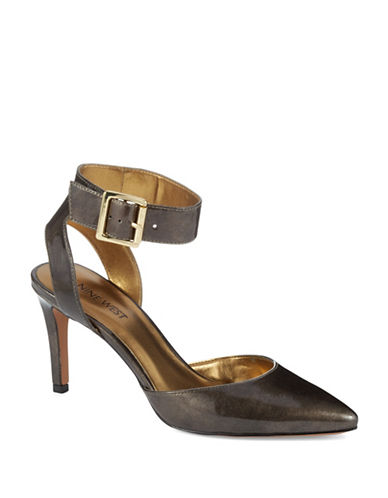 NINE WEST Callen Leather Ankle-Strap Pumps