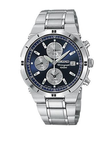 SEIKOMens Stainless Steel Chronograph Watch