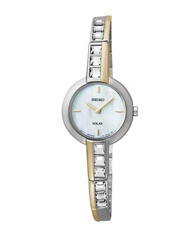 SEIKOLadies Two-Tone Crystal Accent Watch