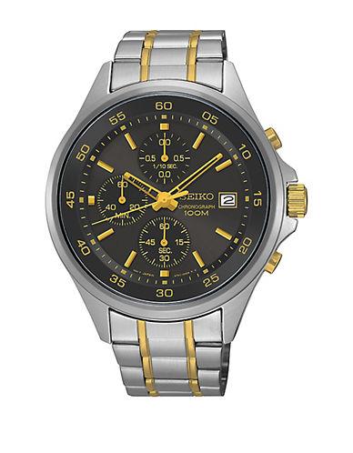 Seiko SKS481 Chrono, Two-Tone Stainless Steel Chronograph Watch