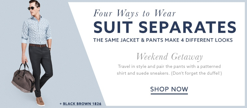 Casual suits and fashion sneakers for a weekends at lordandtaylor.com.