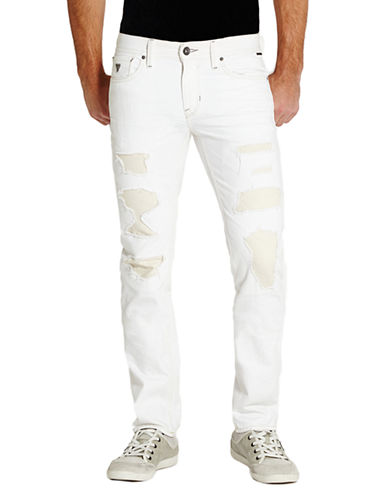 GUESSRobertson Destroyed Slim Straight Jeans