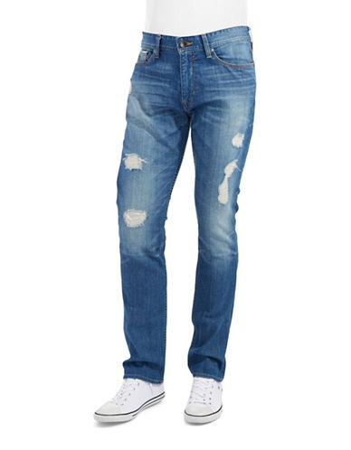 GUESS Slim Straight Distressed Jeans