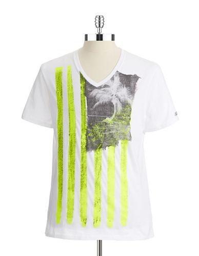 GUESSNeon Paint Flag T-Shirt