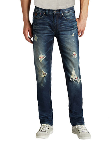 GUESSLincoln Distressed Straight Leg Jeans