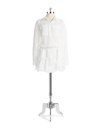 GUESSRuffle Shirt Dress