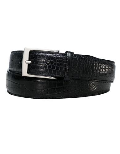 BLACK BROWN 1826Croco-Embossed Belt