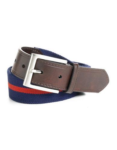 Black Brown 1826 Striped Stretch Fabric Belt
