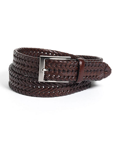 BLACK BROWN 1826 Woven Leather Belt