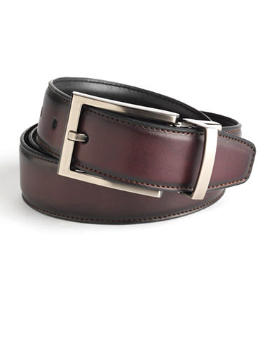 BLACK BROWN 1826 Reversible Leather Belt