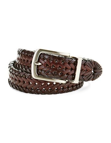 LORD & TAYLOR KIDS Braided Leather Belt