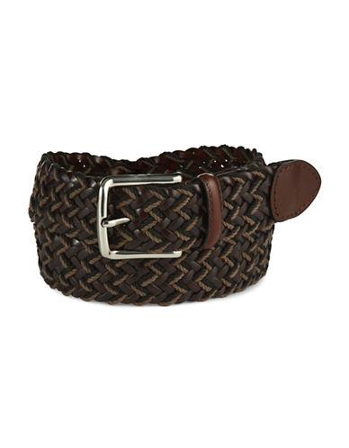 BLACK BROWN 1826Leather Braided Belt
