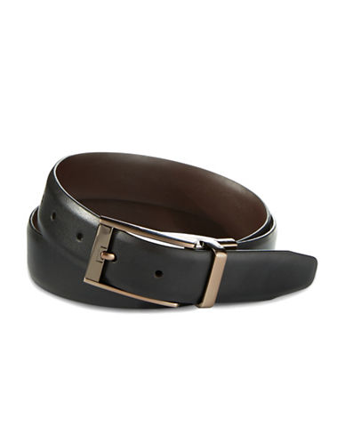 Black Brown 1826 Leather Reversible Belt