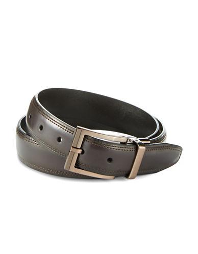BLACK BROWN 1826Leather Reversible Belt