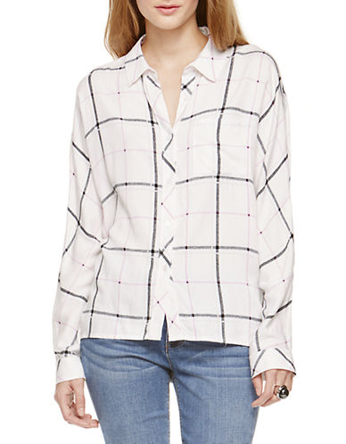TWO BY VINCE CAMUTO Windowpane Plaid Utility Shirt