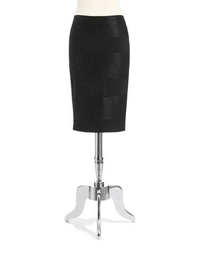 1 STATEPonte Lace Pencil Skirt